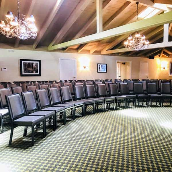 Corporate event seating for presentation