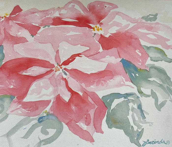 Flower painting by Lucinda Eubanks